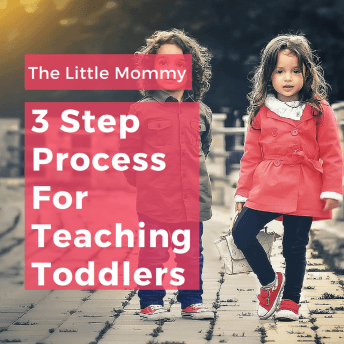 3 Step Process For Teaching Toddlers - Guest Post by Lindsey From The Little Mommy