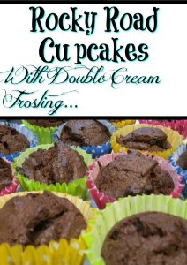 Rock Road Cupcakes with Double Cream Frosting, Tasty and a great treat