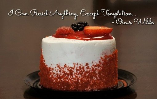 I can Resist anything except temptation - Oscar Wilde - Falling off the food wagon