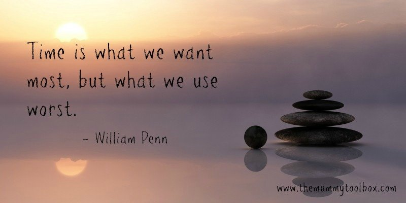 Time is what we want most but what we use worst quote on sunset background with pebbles- The Real Selfish reason I run