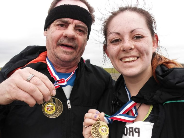Showing off our Bling - Kenley 10k P.B Recap