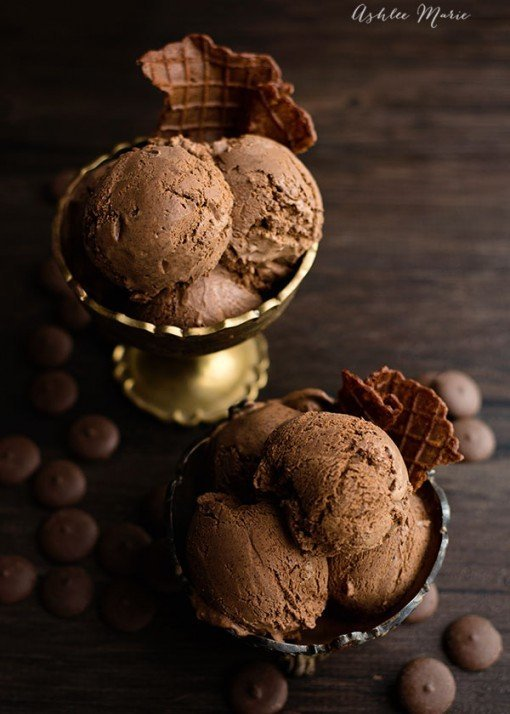 Chocolate Ganache Ice Cream by Ashlee Marie