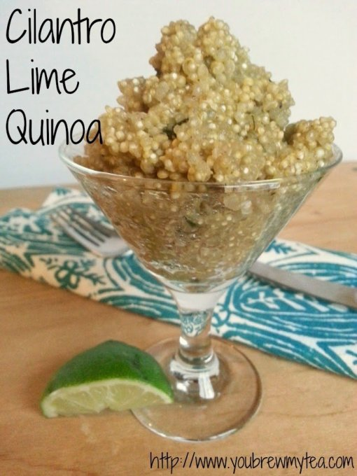 Cilantro Lime Quinoa by You Brew My Tea