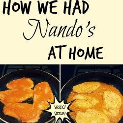 How We Had Nando's at home - peri-peri medium chicken marinade