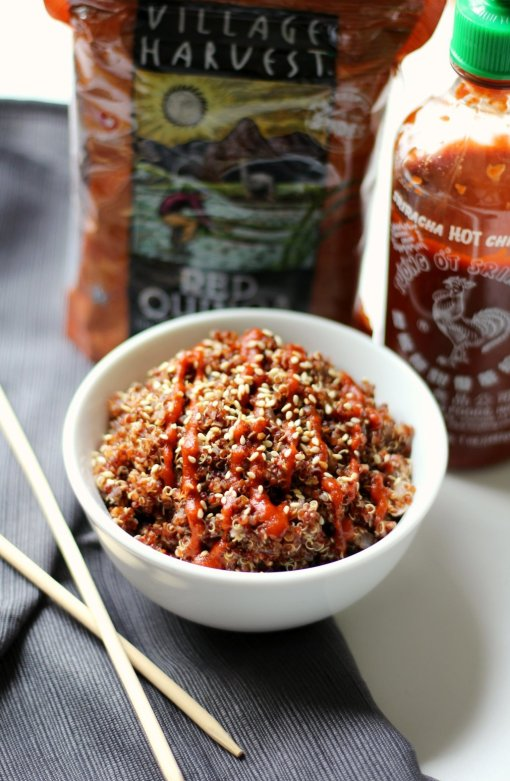 Spicy Red Sriracha Quinoa by Strength and Sunshine