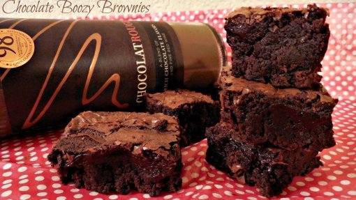 boozy chocolate brownies by Slap Dash Mom
