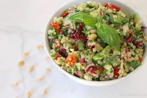 Mediterranean Quinoa Salad By Two healthy kitchens
