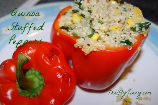 Quinoa Stuffed Peppers by Thrifty jinxy
