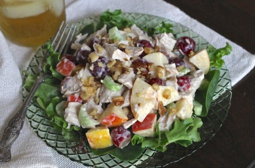Roast Chicken Waldorf Salad by Brittanys Pantry