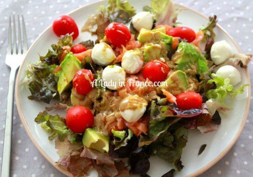 Smoked Salmon Salad by a lady in france