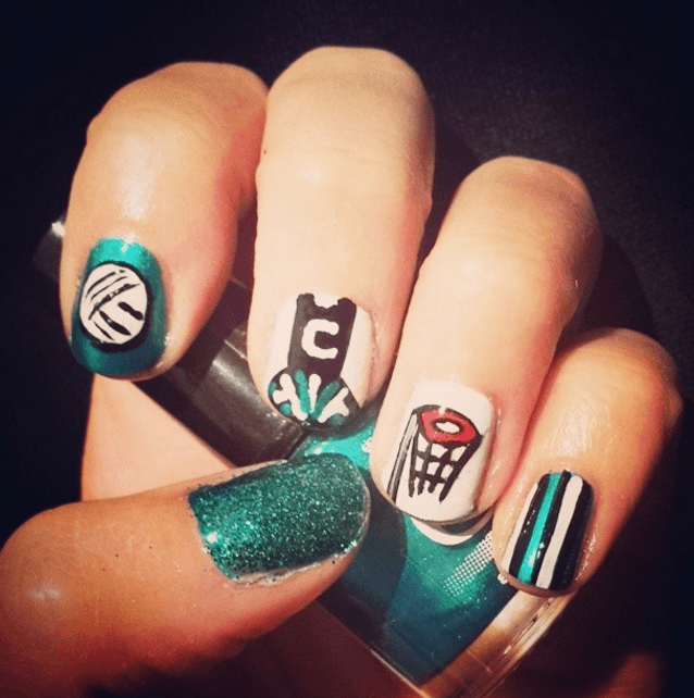 Netball nail art inspirations - centre