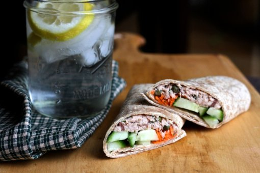 light tangy tuna wraps by Brittanys Pantry