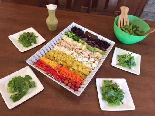 rainbow salad with mustard vinaigrette by Mash up Mom
