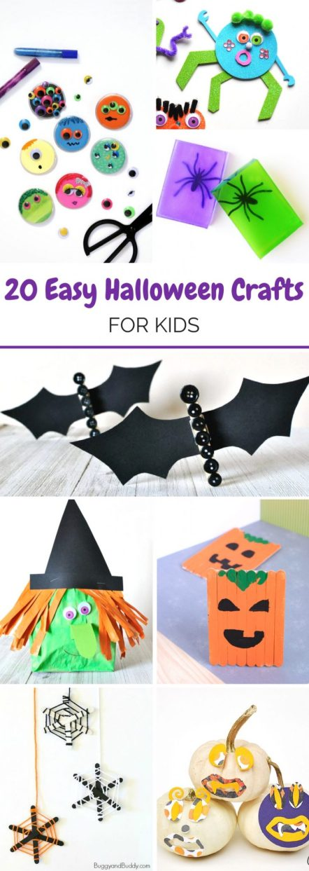 For some spooky fun over the holidays, here are some easy Halloween crafts for kids that shall keep you all amused and getting creative.
