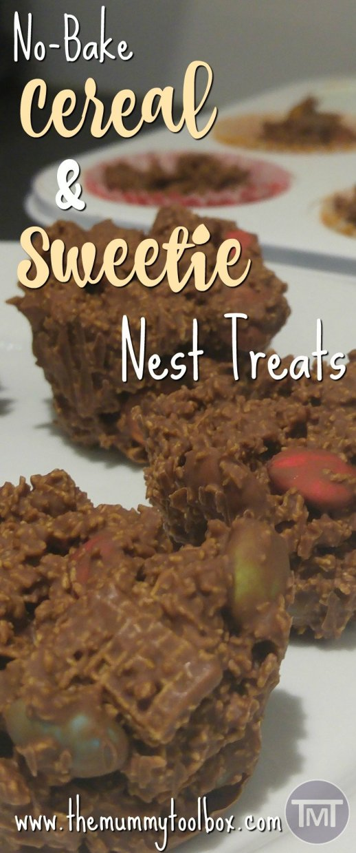 Don't let the cereal fool you, these sweetie nest treats are definitely not a healthy breakfast alternative but they definitely are delicious!