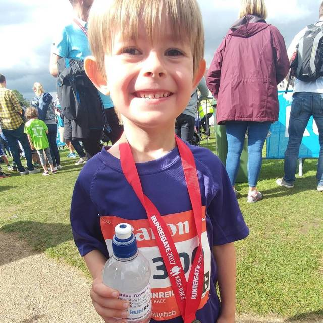 Couldnt be prouder of this little guy at the runreigatehellip