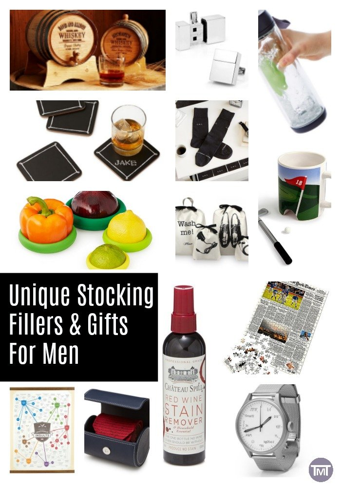 Unique ideas for stocking fillers and gifts for men. Presents with a twist, plus ways you can think of unique gifts for your friends and family. #giftguides #giftideas #Christmas #Christmaspresents #ad