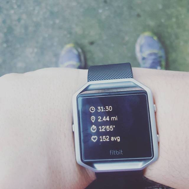 Not only testing my new fitbitblaze for The first runhellip