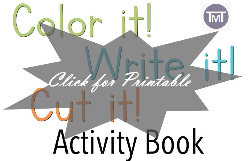 Color, Cut, Write Activity Book Free
