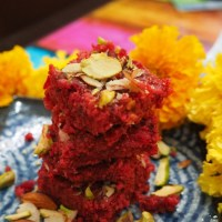 Beetroot Kalakand - Indian sweet