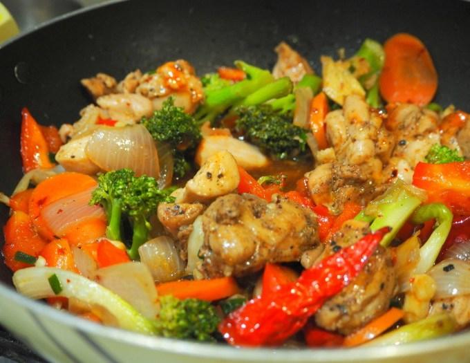 Stir fry Black pepper chicken