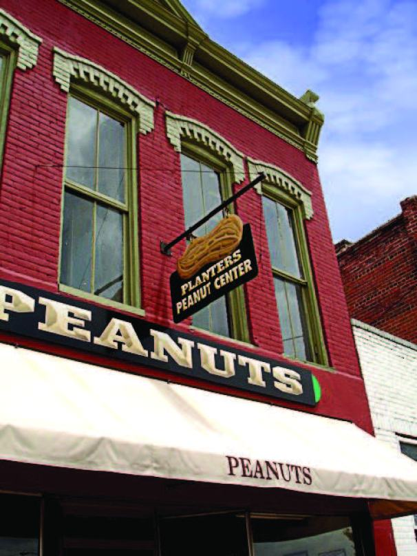 The palpable presence of peanuts and peanut heritage continues to permeate Suff olk, Va. Mr. Peanut statues dot the city, and visitors can tour the Planters' factory and learn about the history of peanuts. (Photo provided)
