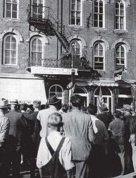 On several occasions in the past, the city's downtown was closed to traffi c and pedestrians so that groundbreaking magical tricks could be performed — including one involving release from a straightjacket while suspended, upside down, by a heavy chain. (Photo provided)