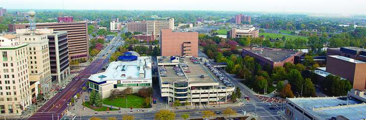 """University of Michigan-Flint has made great strides in revitalizing Genesee County in recent years. The institution was ranked by U.S. News and World Report as a """"Best in the Midwest"""" for 2015. (Photo provided)"""