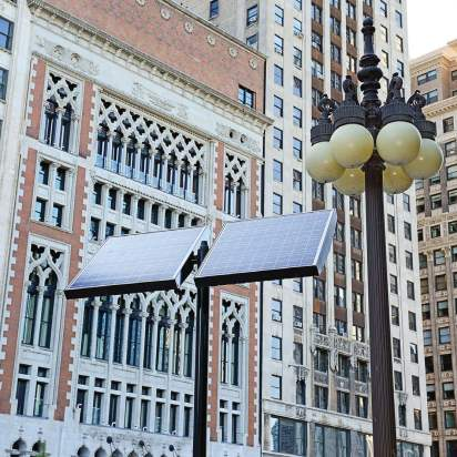 Solar power reduces dependency on fossil fuels and does not produce carbon dioxide pollution, making it a popular option for many cities.