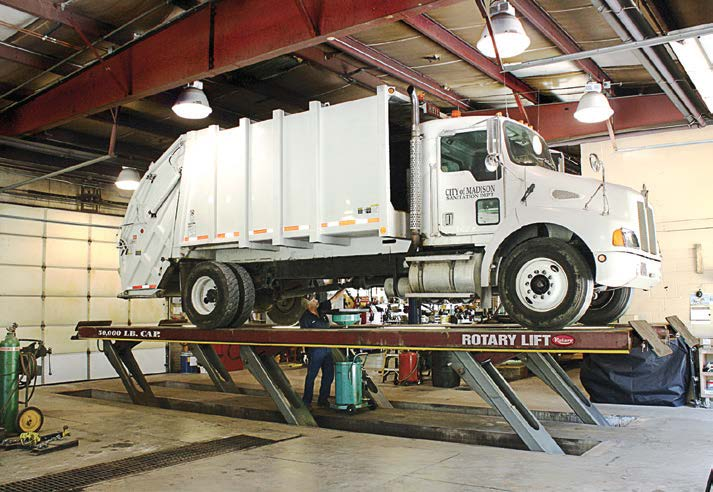 Rotary Lift heavy-duty parallelogram lifts are available with 30,000 to 100,000 pounds capacity to easily raise Class 7 and 8 vehicles. (Photo provided)