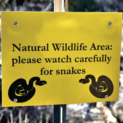 Park managers can never be too careful when it comes to mitigating risks. For instance, managers should make sure signage warning users of known hazards is prominently posted. (Shutterstock)