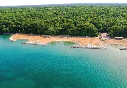The Rosewood Beach's renovation included three separate coves for nature, swimming and recreational use. It also expanded the beach with 65,000 cubic yards of sand. (Photo provided by Park District of Highland Park)
