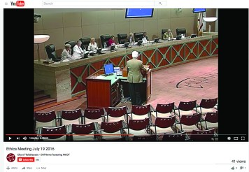 The Tallahassee Independent Ethics Board routinely posts all its meetings to the city's YouTube page in an effort to maintain transparency. (Photo provided/Youtube)