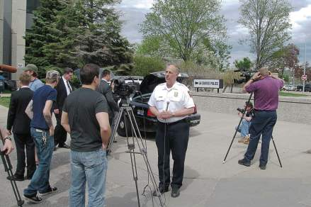 La Crosse, Wis., Police Department hosted a press conference in 2009 to announce it would be retrofitting its squad cars using bi-fuel propane conversion kits. It was a decision in line with the department's proactive approach to seeking out the latest innovations and technologies that can help save money. (Photo provided)