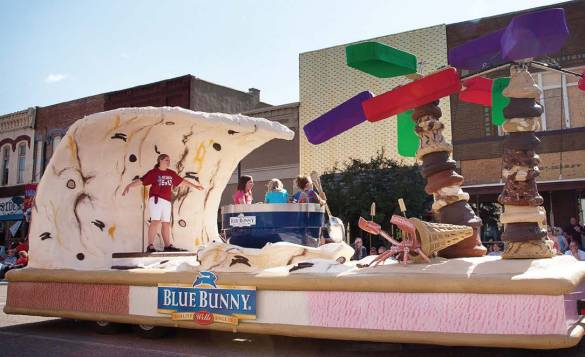 """Blue Bunny, Le Mars' largest employer, put the city on the map as the """"Ice Cream Capital of the World."""" Pictured is the company's Ice Cream Days float. (Photo provided by Nancy Brechler Photography)"""