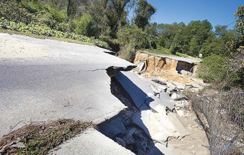 Hurricane Matthew left its mark in parts of U.S. — including Florida, Georgia, South Carolina and North Carolina — displacing residents and damaging infrastructure. Like Raeford, N.C., shown, Princeville, N.C., found its roads damaged. (Shutterstock.com)