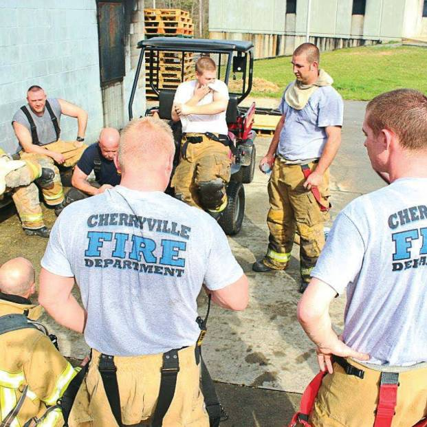 "After an economic downturn sent people to find jobs in neighboring communities, Cherryville Fire Department in North Carolina has struggled to keep volunteers, with Fire Chief Jeff Cash noting, ""After a commute to a large city, plus working eight-hour days, they don't have time for me anymore. Plus, college-aged students who leave for school often don't return to this community to live and work, so I lose out on them, too."" (Photo provided)"