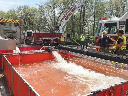 Training exercises provide a means to enhance fire ground operations, particularly in rural communities where static water sources come into play. (Photo provided by Henry Lovett of TurboDraft)