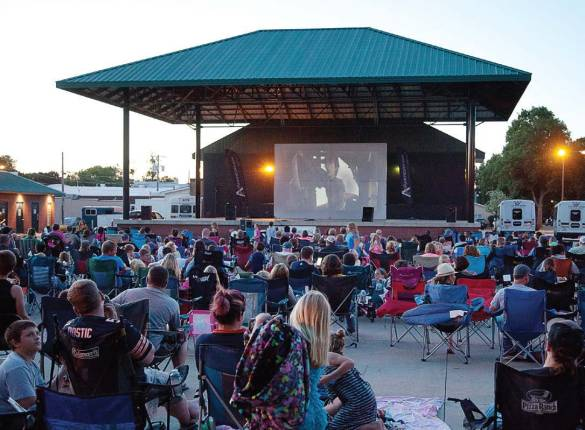 An outdoor movie is one of the highlights of Le Mars' annual four day Ice Cream Days festival. (Photo provided)
