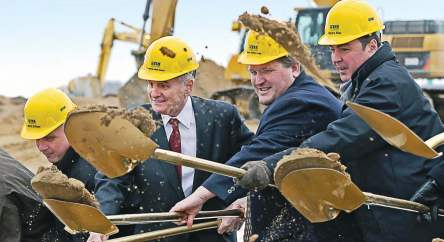 A groundbreaking was held for the new medical office building being built in Brooklyn Park, with construction currently underway. (Photo provided by Brooklyn Park, Minn.)