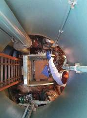 Des Moines workers complete a pump station valve replacement. (Photo provided)