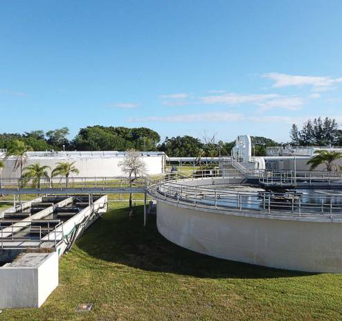 Wellington, Fla.'s, water reclamation facility is located on a very small property, 25 acres, and has a treatment capacity of 6.5 million gallons per day. (Photo provided by Bryan J. Gayoso)