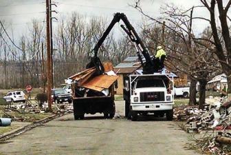 post tornado cleanup