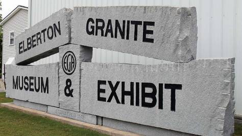"""The Elberton Granite Museum and Exhibit, located northwest of downtown, sports one of the granite signs ubiquitous throughout the town, which hails itself as """"The Granite Capital of the World."""" (Photo provided)"""
