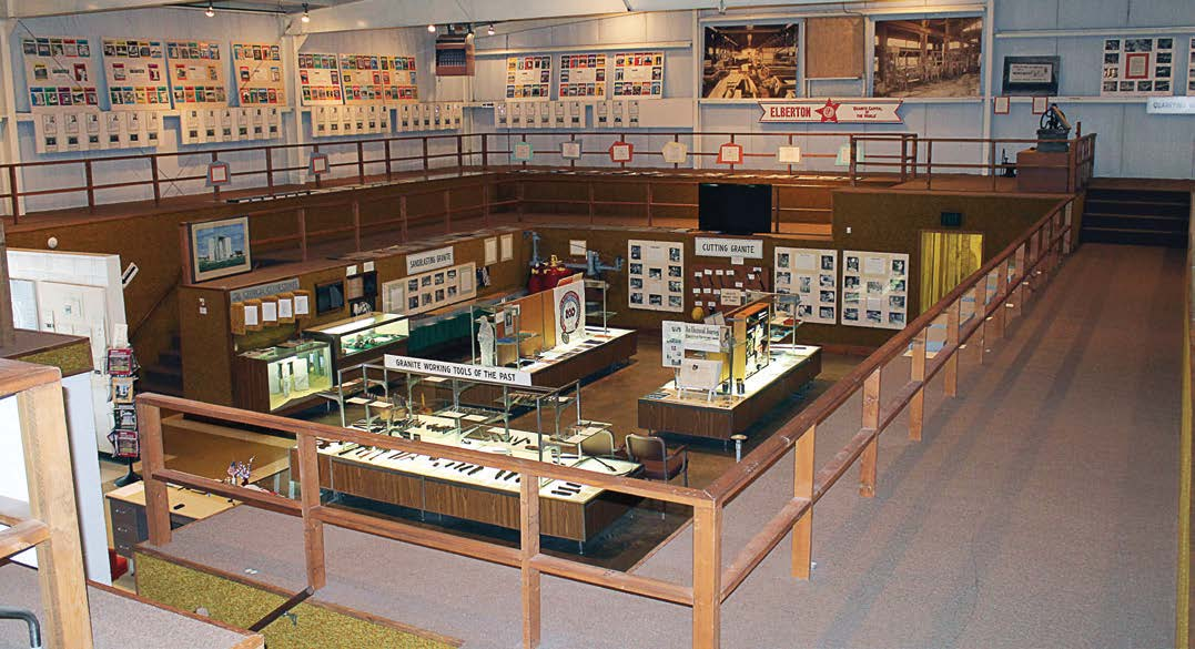 Exhibits and educational displays in Elberton's Granite Museum depict the history of the granite industry and its importance to the economic vitality of the town. (Photo provided)