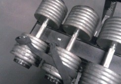 150 lb Dumbbells and Straps