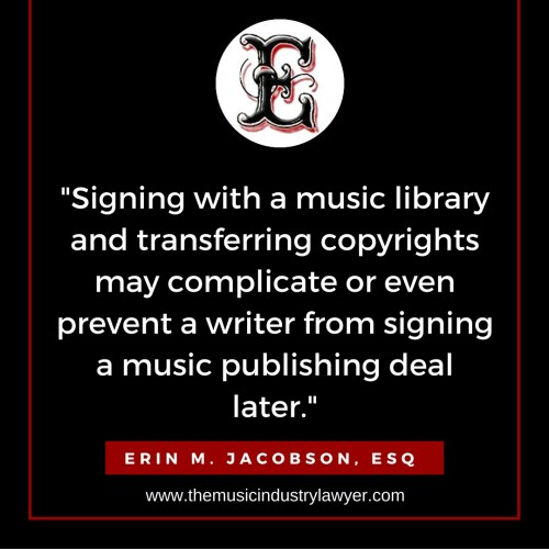 music library music publisher music lawyer music attorney erin jacobson erin m jacobson