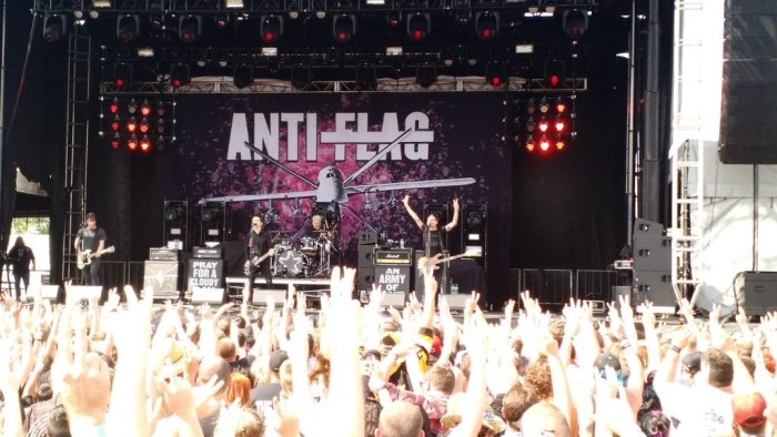 Anti-Flag performs live at Rock on the Range 2016 in Columbus, OH at Mapfre Stadium