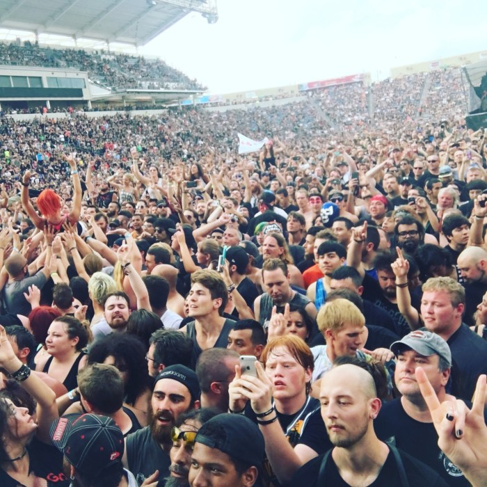 Fans at Chicago Open Air 2016 Day 2 at Toyota Park in Bridgeview, IL