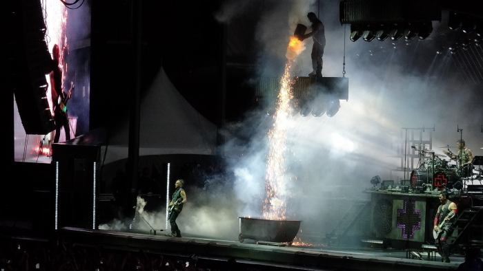 Rammstein performs live at Chicago Open Air 2016 at Toyota Park in Bridgeview, IL.